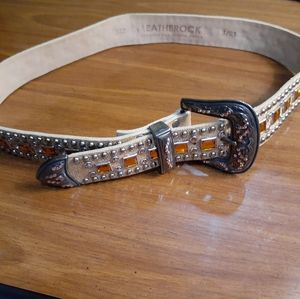Vintage Leatherock leather belt